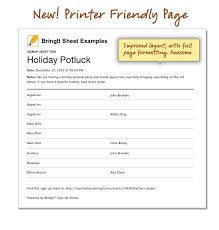 printable potluck sign up sheet thanksgiving