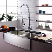 decorating awesome stainless farmhouse sink combined with white