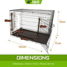42 u0026 034 dog cat pet puppy wire cage kennel crate collapsible 2