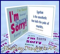 second marketplace fda i m sooo sorry greeting card
