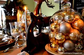 great rustic christmas table decorations ideas with colorful