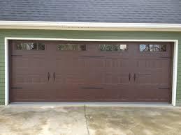 Overhead Garage Door Replacement Panels by Steel Recessed Panel Dark Wood Grain Carriage House Garage Door