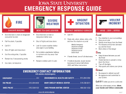 iowa state university emergency response guide environmental