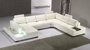 canap cuir design droit canape angle cuir design lumiere fritsch blanc déco séjour