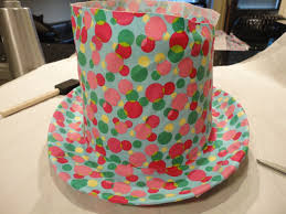 s crafts cover a top hat with fabric celebrate decorate