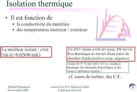 isolation chambre froide les parois de chambres froides pdf