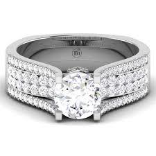 wedding rings nigeria 14k 18k white gold engagement ring cz 4140w rings nigeria