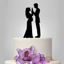 family wedding cake toppers and groom silhouette wedding cake topper acrylic