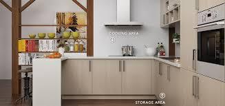 light oak kitchen cabinets modern oppein modern light wood grain kitchen cabinet op16 m07