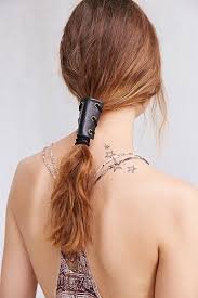 leather hair accessories lyst outfitters leather corset pony holder in black