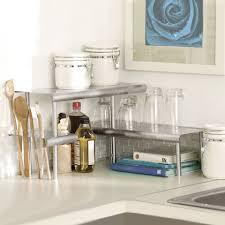 kitchen counter storage ideas marimac deluxe two tier kitchen counter corner shelves in satin