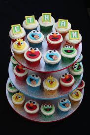 elmo cupcakes theretroinc on etsy elmo cupcakes elmo and sesame cupcakes