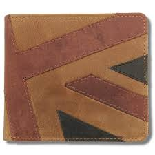 Fold Flag Military Style Mustard Accessories Bi Fold Union Jack Flag Leather Wallet Brown