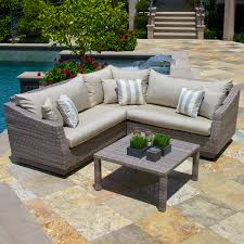 Grey Wicker Patio Furniture by Rst Brands Cannes 9 Piece Patio Dining Set Hayneedle