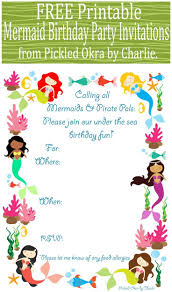 Make Birthday Invitation Cards Online For Free Printable Best 25 Mermaid Party Invitations Ideas On Pinterest Little