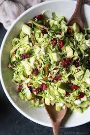 Garden Salad Ideas Asparagus Brussel Sprout Salad With Honey Dijon Dressing Easy