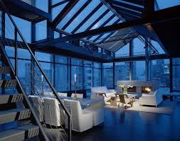 Penthouse Minimalist Penthouse Apartment Overlooking The Seattle Skyline