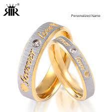 name wedding rings images Rir custom name gold forever love wedding rings couple eternity jpg