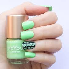 stamping nail polish winter green moyou london