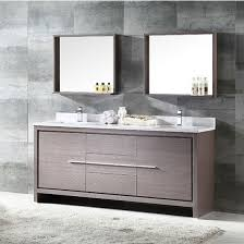 Bathroom Vanities And Mirrors Sets Allier 72 Modern Sink Bathroom Vanity W Mirror Set By