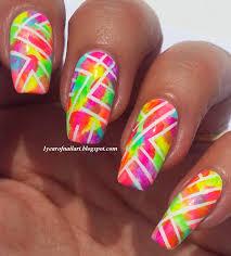 365 days of nail art abstract neon nails