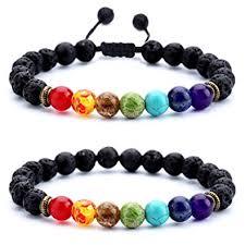 men beads bracelet images Hamoery men women 8mm lava rock chakra beads bracelet jpg