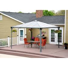 Sunjoy Industries Patio Heater by Palermo Gazebo 12 U0027 X 12 U0027 Grey Bronze Walmart Com