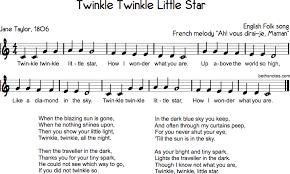 Star Light Star Bright Lyrics Twinkle Twinkle Little Star Beth U0027s Notes