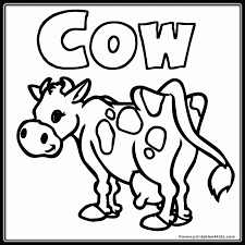 c cow coloring pages 542868
