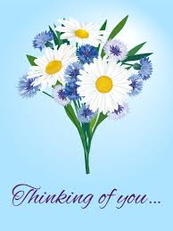 thinking of you flowers flower bouquet thinking of you card birthday greeting cards by