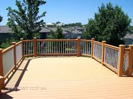lowes exterior stair railing outdoor ideas deck kits wood surface