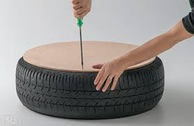 ottoman that turns into a chair how to make turn an old tire into a ottoman diy crafts
