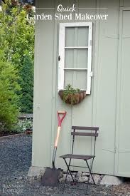 shed makeovers quick garden shed makeover with vintage windows and sedum baskets 650x978 jpg