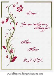 romantic wedding invites all free wedding invitations
