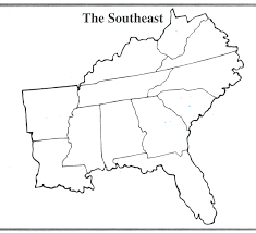 United States Outline Map by The Southeast Region Thinglink