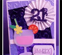 project center drink 21st birthday card