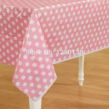 plastic table covers for weddings pink plastic polka dot party tablecloth wedding plastic table cover