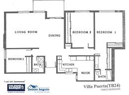 california floor plans villa puerta 3 floor plan laguna woods village