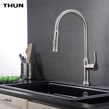 kitchen faucet black finish thun pull stainless steel kitchen faucet black white finish