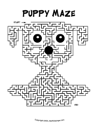 puppy maze activity sheet free coloring pages kids