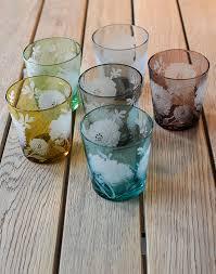 decorazioni bicchieri pol s potten set 6 bicchieri con decorazioni floreali pols potten