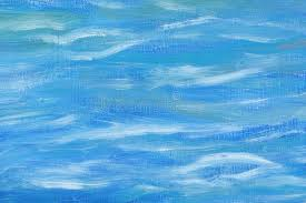 blue and white painting beautiful abstract background oil painting sea abstraction mixed