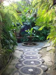 backyard garden with tropical plants ideas to decorate your