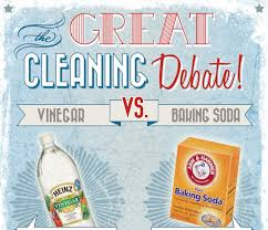 infographic the great cleaning debate vinegar vs baking soda