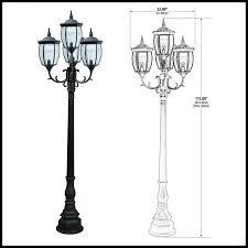 outdoor light pole mount victorian street light with 4 ls