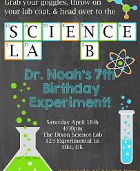 science birthday invitation lillian hope designs