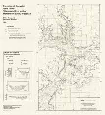 Wisconsin River Map by Wisconsin Geological U0026 Natural History Survey Hydrogeology Of