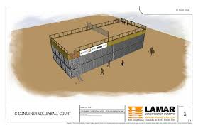 rob bliss explains why a cargo container volleyball court was