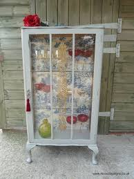 Vintage Display Cabinets Vintage Glass Display Cabinet Toile Du Jouy Fabric Revival Designs