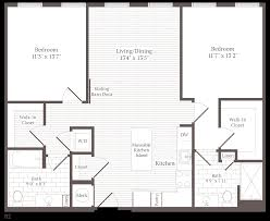 2 Bed 2 Bath Floor Plans Floor Plans Corsair Apartments The Bozzuto Group Bozzuto